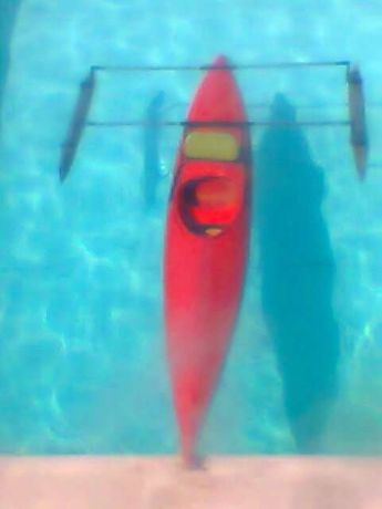 kayak 4m fibra c/flutoadores ou troco