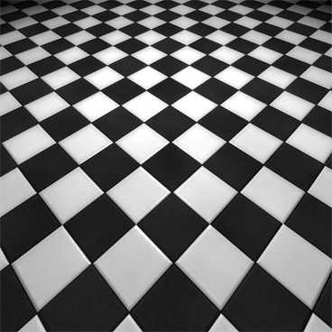 Płytki RAKO OBJECT 10x10 mat białe czarne szachownica karo mrozoodporn