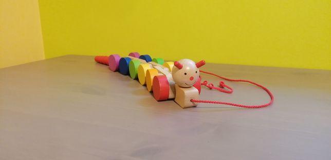 Zabawka drewniana gąsienica Goki