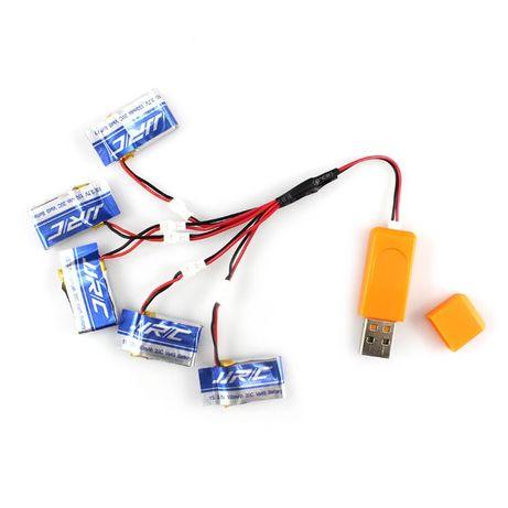 Bateria Akumulator Dron 500mAh 3.7V 20C LiPo Walkera JJR/C H37 5 szt