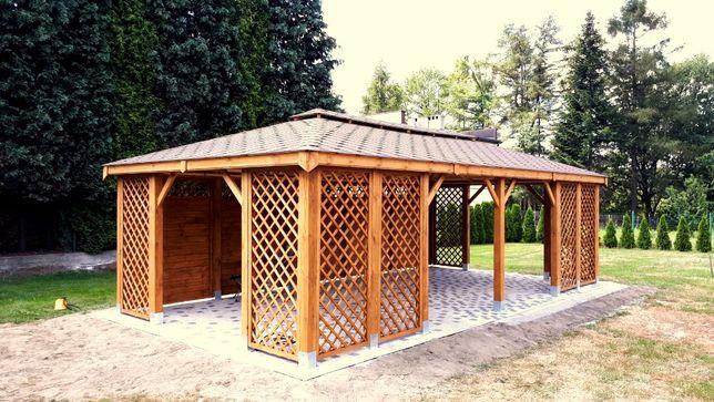 Altana weselna ogrodowa 4x8 pawilon wiata drewniana altana duża