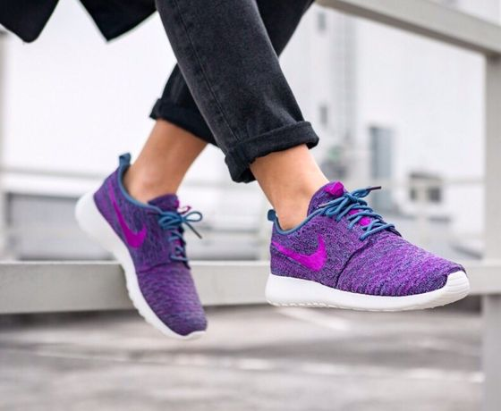 Nike Roshe One Flyknit Purple WMNS 39