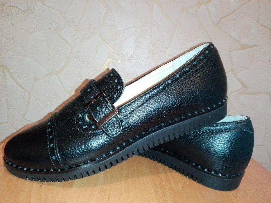 Продам кожаные черные туфли Crumina дешевле оф.цены на сайте Запорожье - изображение 1