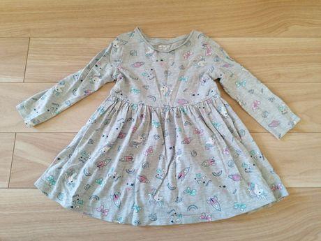 Sukienka w jednorożce roz. 18-24 m-ce