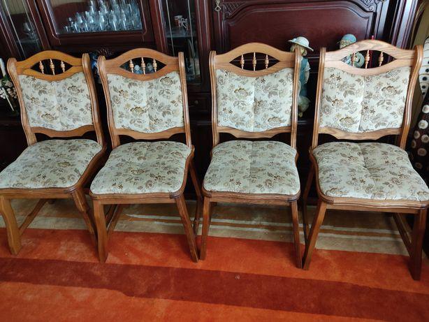 Krzesła dębowe sztuk 4