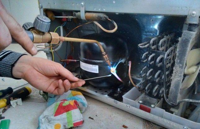 Ремонт холодильников, заправка фреона, замена компрессора и др.