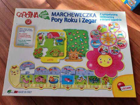 Gra Marcheweczka   Pory roku i zegar puzzle