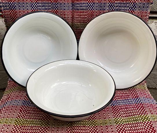 Эмалированная миска тарелка