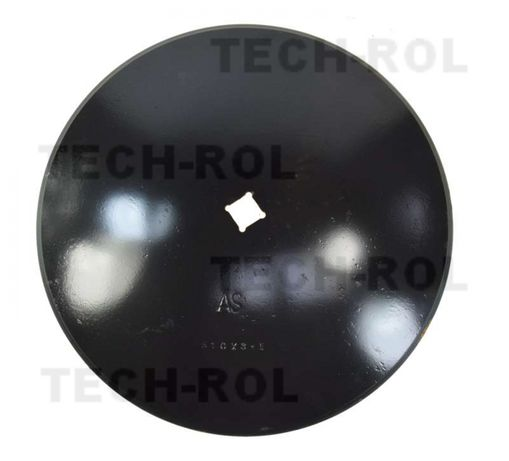 Talerz gładki fi - 510 mm, grubość - 3,5 mm, otwór 30 mm / 30 mm