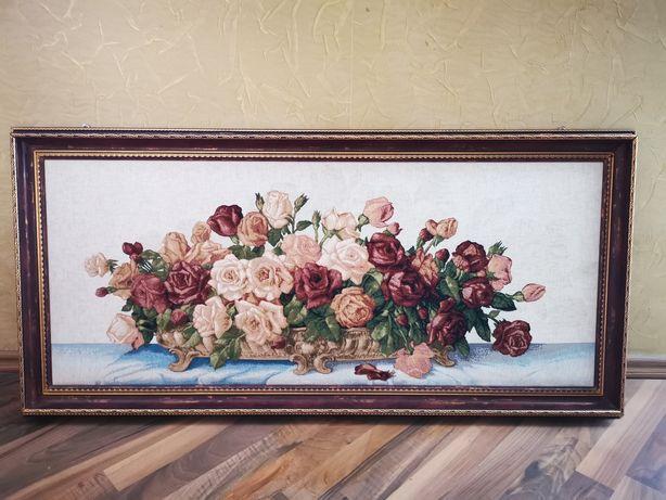 Картина Гобелен цветы Любви