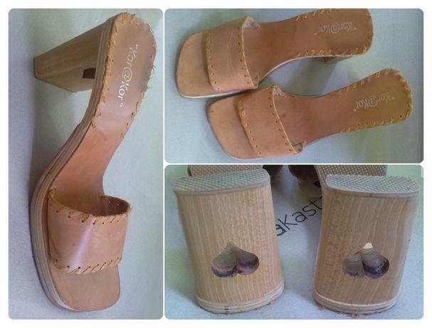 Обувь женская Летняя кожаная женская обувь мюли сабо шлёпанцы