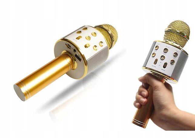 MIKROFON BEZPRZEWODOWY karaoke BLUETOOTH głośnik złoty różowy polecam