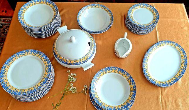 Porcelanowy serwis obiadowy na 12 osób Villa Italia STAN IDEALNY