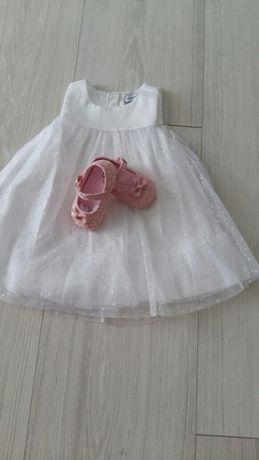 Nowa sukienka chrzest,okazjonalna roz 74 Reserved