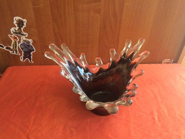 Чешское стекло ваза капли
