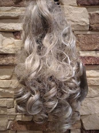 dopinka do włosów blond na klamre