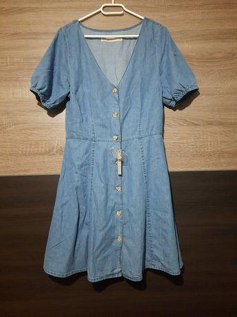 Jeansowa deninowa sukienka