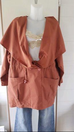 Casaco de senhora cor de tijolo ( estilo Zara) - portes incluídos.