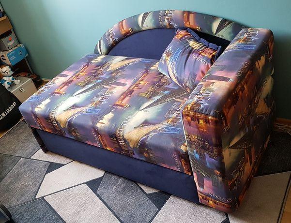 Składany tapczan sofa kanapa łóżko z pojemnikiem na pościel