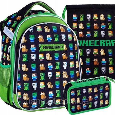 Школьный рюкзак для мальчика,комплект ASTRA MINECRAFT ORIGINAL 3 ЭЛ.