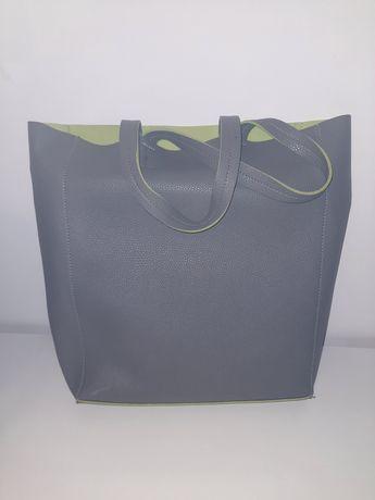 Szara skórkowa torba / A4