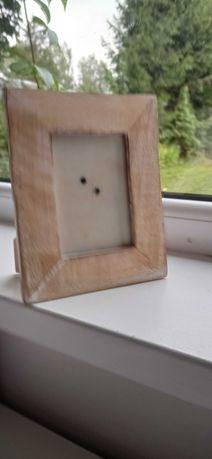 Ramka drewniana stylowa bielona postarzana do zdjęcia rama vintage