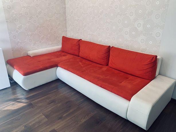 Sofa narożna OSLO - rozkładana, z wygodną leżanką
