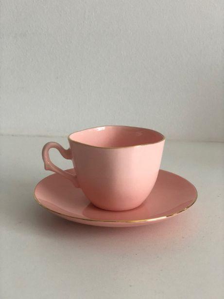 Serwis zastawa Ćmielów porcelana zestaw kawowy filiżanki espresso