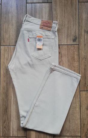 Levis 501 nowe oryginalne męskie jeansy spodnie