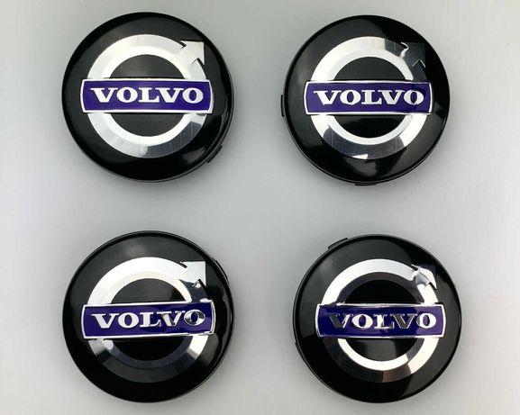 Centros/tampas de jante completos Volvo com 56, 60, 64 e 68 mm