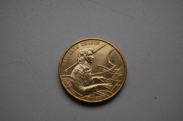 Moneta 2 zł Fryderyk Chopin z 1999 roku.