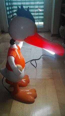 Lampka kaczor z zegarem do pokoju dziecięcego