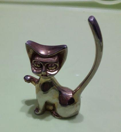 Тримач кіт для каблучок держатель колец