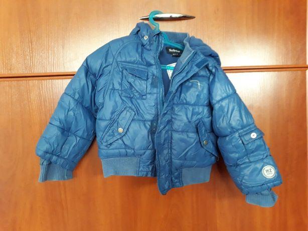 kurtka zimowa dla chłopca granatowa 2-3 lata