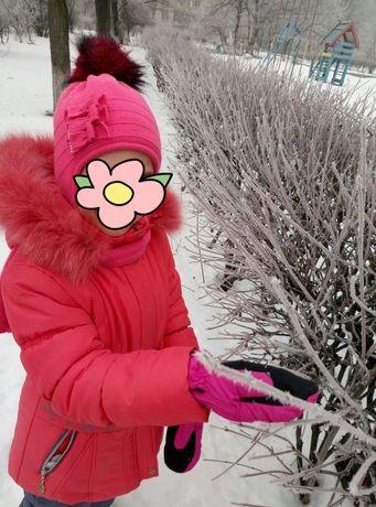 Зимний комбинезон с курткой, 122 рост для девочки