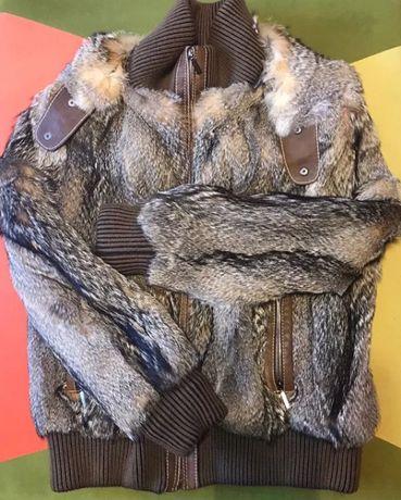 Мужская куртка из меха волк
