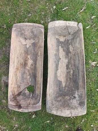 Zabytkowe drewniane niecki