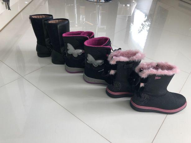 Buty zimowe rozm. 32 GEOX, Zara + klapki CROCS