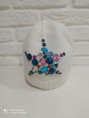 Детская шапочка для девочки ручной работы