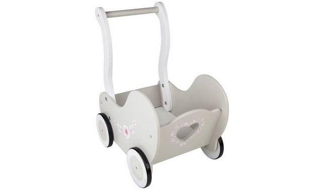 Wózek dla lalek drewniany