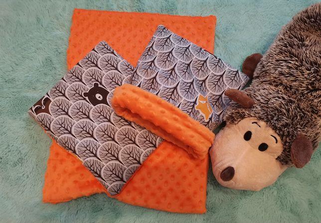 Norka,domek, kocyk, poduszka dla jeża, jeż pigmejski, pomarańczowy las