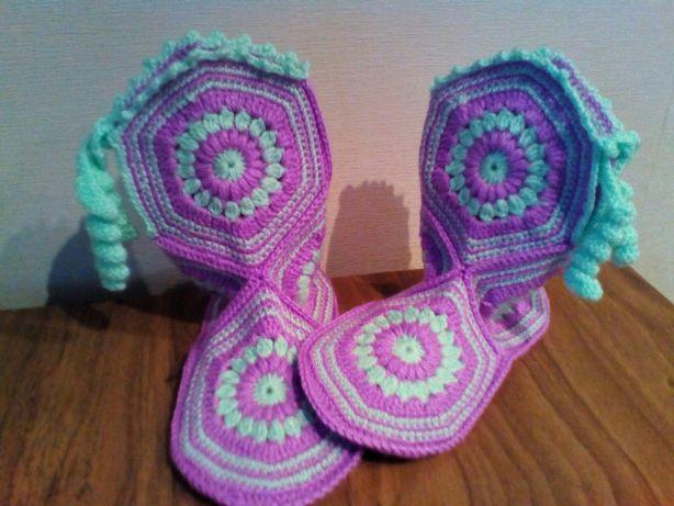 Вяжу носки пинетки тапочки сапожки
