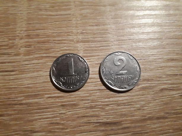 Монеты Украины 1-2 копейки, 5, 25, 50 копеек