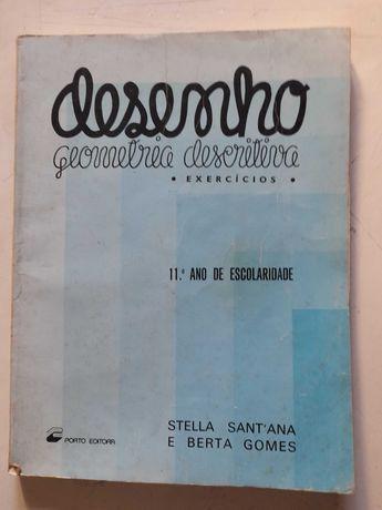 """Livro """" Desenho ( Geometria Descritiva ) """" Antigo"""