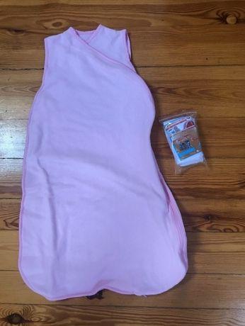Śpiworek do łóżeczka ,Ikea, nowy,polarowy, różowy, dla noworodka