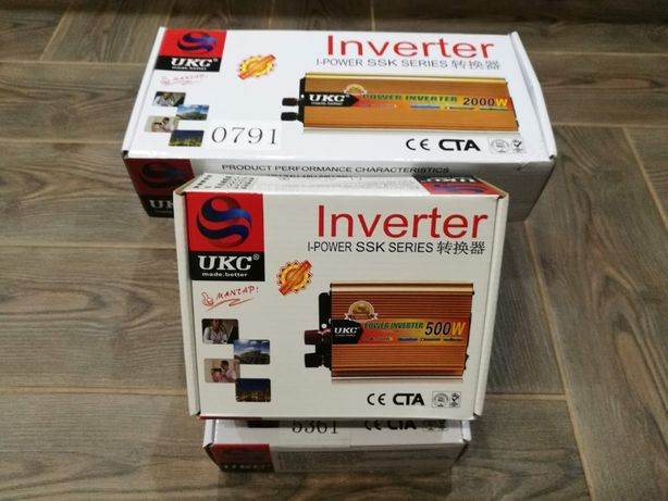 Преобразователь инвертор 12V-220V 500W/1000W/1200W/2000W/3000W