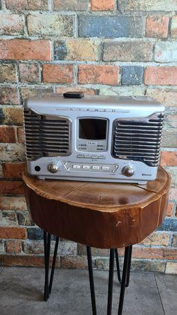 radio mini wieża bluetooth multimedialna teac retro sl-d800bt silver