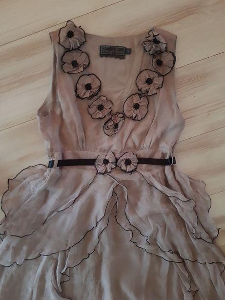 Nowa sukienka z jedwabiu