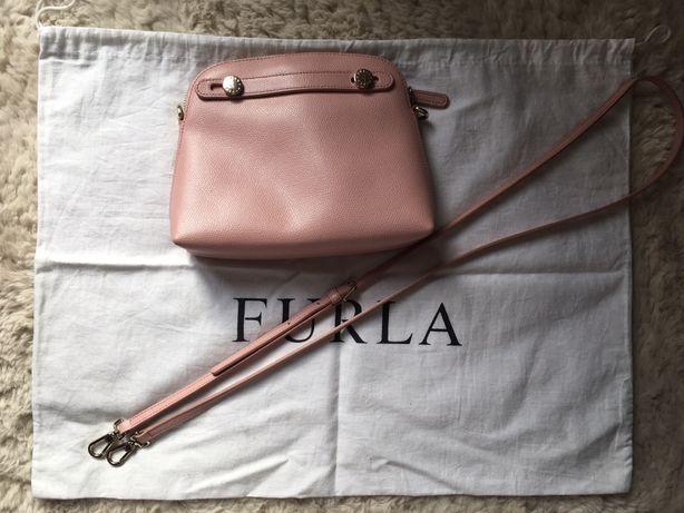 FURLA mała różowa torebka