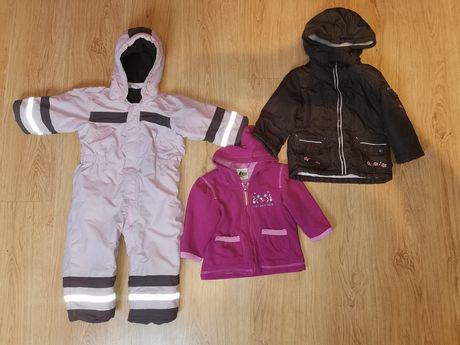 Kombinezon h&m, bluza rozpinana oraz kurtka 86
